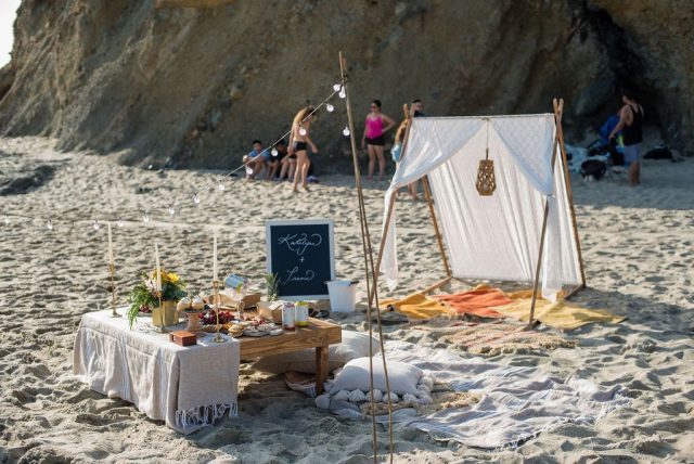 Boho picnic at Laguna Beach