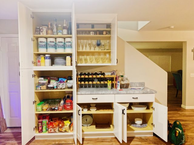 kitchen organization before and after spring cleaning