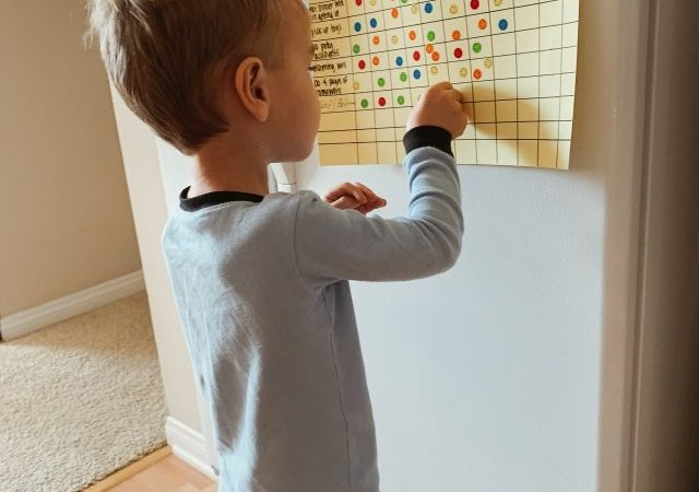 using sticker charts for toddler behavior